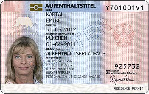 Authentische unbefristete Aufenthaltserlaubnis in Deutschland